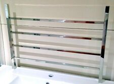 Square 4 Bars Stainless Steel Non - Heated Towel Rail (W) 700 x (H) 500 x (D) 90