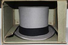 Antique Vintage Austin Reed Grey Top Hat In Original Box 25/06/1952 Size 6 7/8