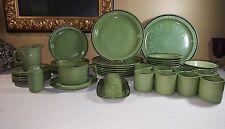 Vintage Green Stonecraft Seminole Dinnerware Stoneware Made In Japan