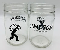 Set of two Jamison Irish Whiskey Branded Mule Glass Mason Jar 2  12 fl oz. Jars