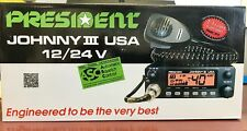 President Johnny III USA Deluxe Super Compact 40 Channel CB Radio Brand NEW