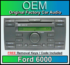 Ford 6000 CD player, Ford Transit car stereo headunit + radio removal keys CDDJ