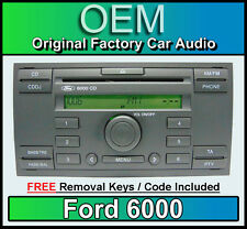 Ford 6000 reproductor de CD, Ford Focus Headunit estéreo de coche con Radio retiro llaves cddj