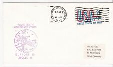 SUPPORT OF APOLLO 16 FOURTEENTH AEROSPACE FORCE US POSTAL SRVC. , CO 4/18/1972