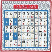 HAMAMONYO Furoshiki 'Japanese Syllable Table' Cotton Wrapping Cloth japan