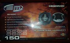 """Boschmann Titanium-JX-S443L - Ø100 mm - 150W - Car Speakers 10cm 4"""" Coaxial 3way"""