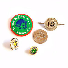 MIXED LOT OF SPORTS BADGES & COLLECTABLES - CRICKET/FOOTBALL/GOLF