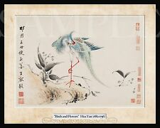 Chinese Picture Birds and Flowers (8X10) New Color Art Print Photo Old Woodblock