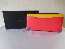 New Rag & Bone Crosby Multi Colorblock Leather Continental Clutch Wallet