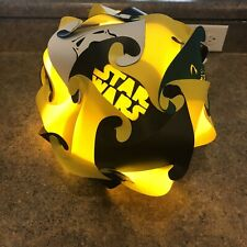 Star Wars Shine Bright Like A Puzzle Light Collectible Yellow/Black EUC