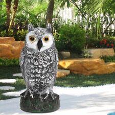 Large Fake Owl Decoy Hunting Deterrent Bird Pigeon Cat Crow Scarer Repeller