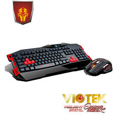 Viotek Twilight Backlit Extreme Gaming Multimedia USB Keyboard Laser Mouse combo