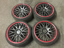 "AUDI A2 A3 A4 RS4 WOLFRACE 18"" ALLOY WHEELS TYRES  215 35 18 WHEEL SET"