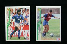 Upper Deck World Cup 1994 Brazil soccer trading cards 12 total
