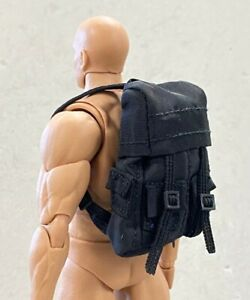 """PB-BPK: 1/12 scale black Backpack for 6"""" action figures"""