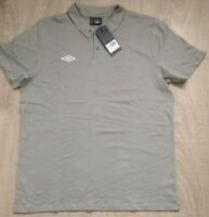 Umbro Griffin Jersey Polo Shirts Grey Marl, Soft 100% Cotton, New NWT 61788U