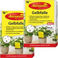 Aeroxon – Gelbfalle – Gelbtafeln – 20 Gelbsticker, gegen Ungeziefer im Garten