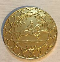 1985 vintage knights of Babylon Mardi Gras Gold Aluminum coin Desert Song