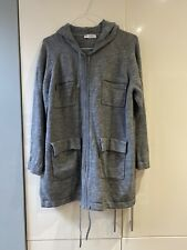 Womens Grey Hooded Cardigan Size 16 Marks And Spencer