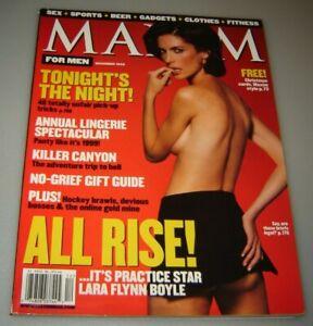 MAXIM Magazine #24 DECEMBER 1999-B -  Lara Flynn Boyle Lisa Marie !!!