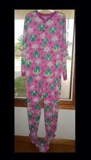 Frogs Footed Pajamas Frog On A Lily Pad Easter Pink 1 Pc Nwt M or L Last Ones