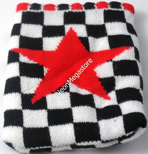 White & Black Chequered Mobile Phone Pouch /MP3/ Sock