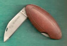 TRES RARE LE BRENUS Ballon RUGBY CUIR- NOUVEAU Couteau d' Artisan à ton Prénom