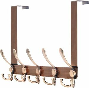 Over-the-door 5 Tri Hooks Stainless Steel Heavy-duty Hanger 4 Color Choices