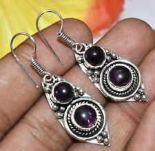 Amethyst Gemstone Dangle Earring 925 Sterling Silver Overlay U275-A125