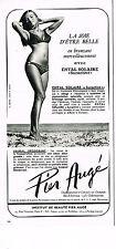 PUBLICITE ADVERTISING 064  1971   PIER AUGE cosmétiques solaires