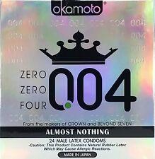 Okamoto 004 Male Latex Condoms 24 ea Exp. 10/2019