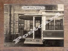 Historic Louisville Railway Company Car 1910 Transport Postcard