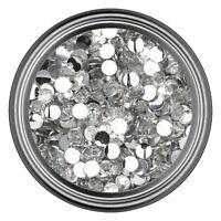 Clear Resin Rhinestone Gem 2mm 3mm 4mm 5mm 6mm Flatback Nail Crystal