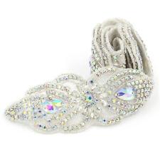 1 Yard Silver AB Crystal Rhinestone Applique Trim Wedding Dress Sash Belt  DIY c20904255e9d