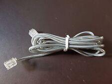 Cable teléfono RJ11 180 cm Gris Telefono Fijo