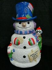 "Hallmark Maxine Floyd Snowman Cookie Jar ""Keep your hands off my cookies! Xmas"