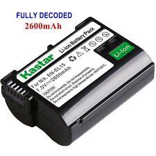 1x Kastar Battery for Nikon EN-EL15 V1 D500 D600 D610 D750 D800 D800E D810 D810A