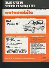 (33A) REVUE TECHNIQUE AUTOMOBILE FIAT PANDA 45 / FIAT 127 / RENAULT 15 et 17