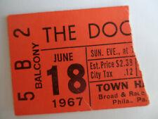 The Doors Original_1967_Concert Ticket Stub_Philadelphia_Ex