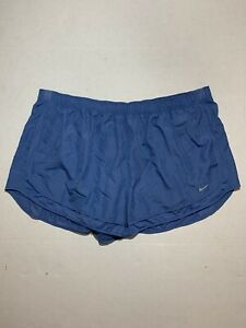 NWT Nike Dri Fit Womens Running Shorts Blue Plus Size 3X BV6724-458