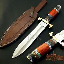 "14.5"" CUSTOM FORGED HANDMADE D2 TOOL STEEL TACTICAL SURVIVAL DAGGER KNIFE JRK57"