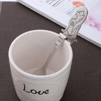 1PC Mermaid Shaped Drink Spoon Stainless Steel Ice Cream Coffee Soup Tea Spoons