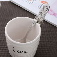 Stainless Steel Mermaid Coffee Spoon Ice Cream Teaspoon Kitchen Tableware Silver