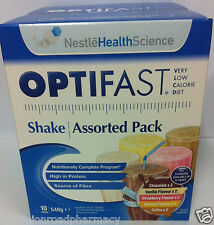 Optifast® VLCD™ Shakes assorted 10 Pack (6 Boxes) (60 Sachets) 53 gm each---DRP