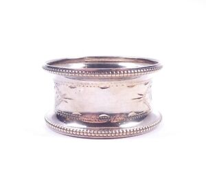 Antique Silver Napkin Ring Birmingham 1919 HM 925 Sterling 9.9g