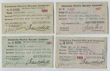 4 Canadian Pacific Railway Company Passes 1917, 1921, 1924 1925