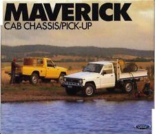1988 FORD MAVERICK CAB/CHASSIS PICK-UP Australian 6p Brochure NISSAN Y60 PATROL