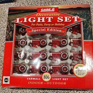 Case IH Farmall 806 Tractor Shape20 pc.Light Set Xmas Patio Party Indoor Outdoor