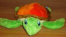 """SEA TURTLE 12""""L beanbag plush Adventure Aquarium Orange Tan Green"""