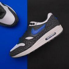 24e559f7 Nike Air Max 1 Safari 3M REFLECTIVE Atmos Pack Black Grey Blue Men's Sz 9  Shoes